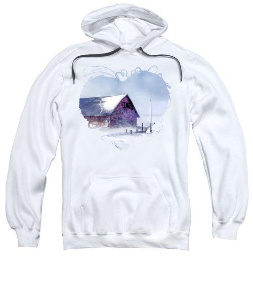Anderson Dock Winter Storm In Door County Sweatshirt