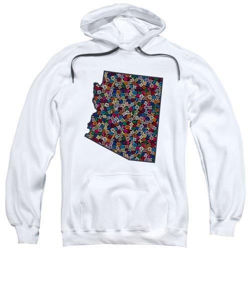 Arizona Map - 1 Sweatshirt