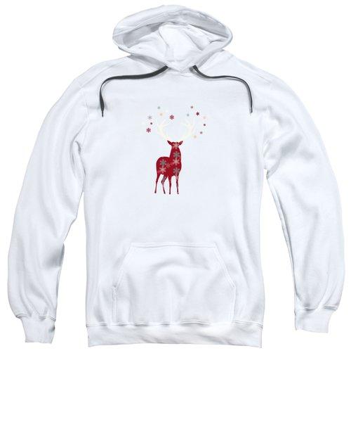 Snowflake Christmas Stag II Sweatshirt