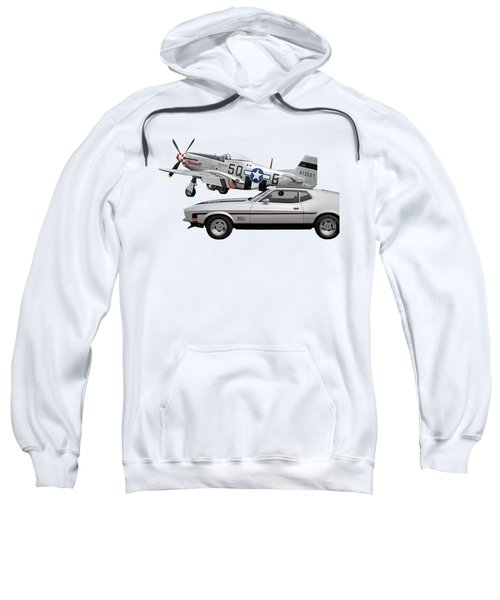Mach 1 Mustang With P51  Sweatshirt