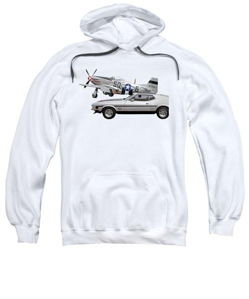 Mach 1 Mustang With P51  Sweatshirt