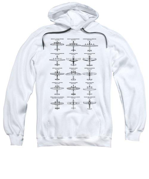 American Bomber Aircraft Of Ww2 Sweatshirt