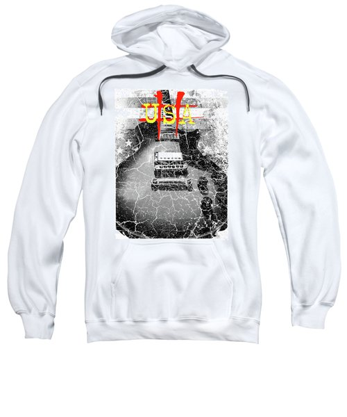 Usa Flag Guitar Relic Sweatshirt