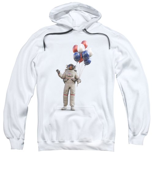 Astronaut With Happy Balloons  Sweatshirt