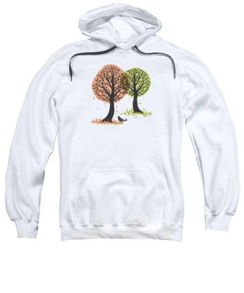 Autumn Is For The Birds Stamped Linocut Sweatshirt