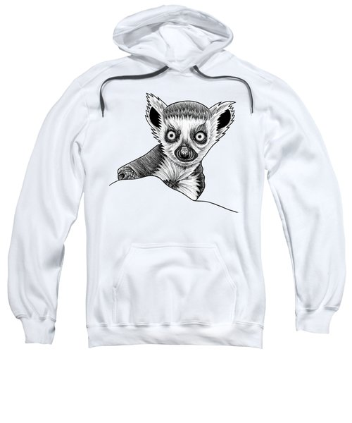 Baby Ring Tailed Lemur - Ink Illustration Sweatshirt