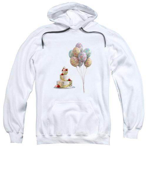 Balloons And Cake Sweatshirt