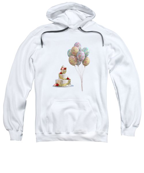Balloons And Cake Sweatshirt