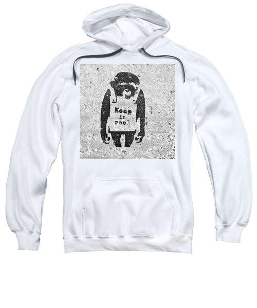 Banksy Chimp Keep It Real Sweatshirt