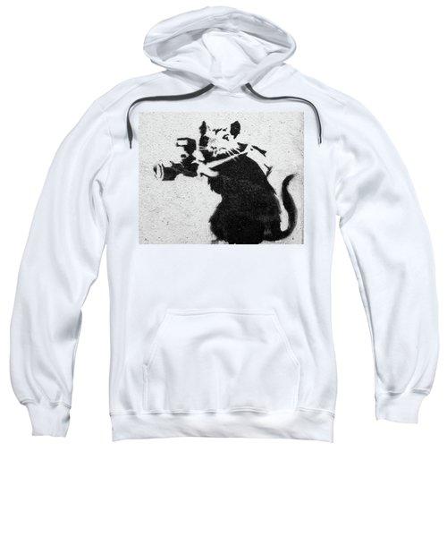 Banksy Rat With Camera Sweatshirt