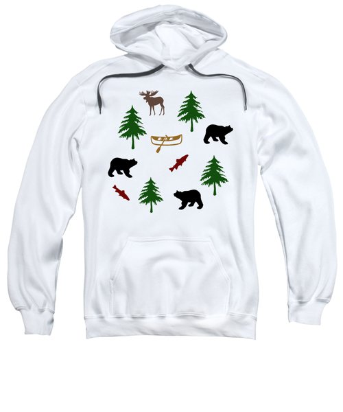 Bear Moose Pattern Sweatshirt