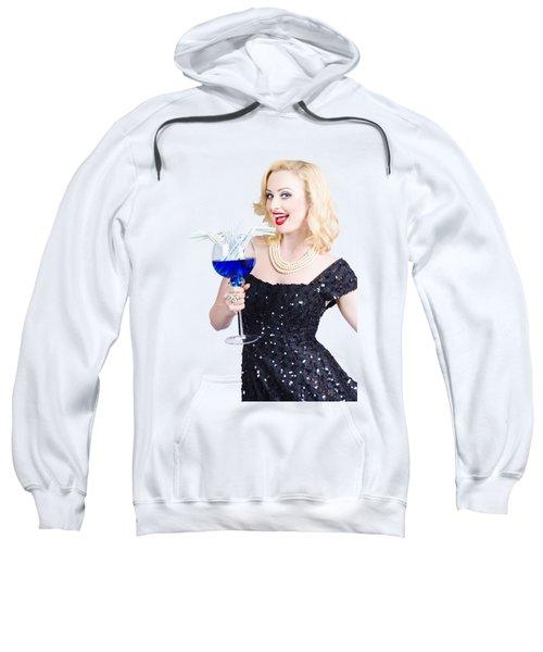 Beautiful Blonde Enjoying A Classy Cocktail Event Sweatshirt
