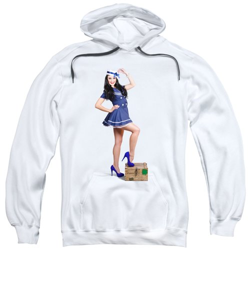 Beautiful Vintage Navy Woman. Retro Pinups Sweatshirt