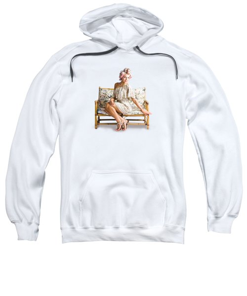 Beautiful Woman On Couch Sweatshirt