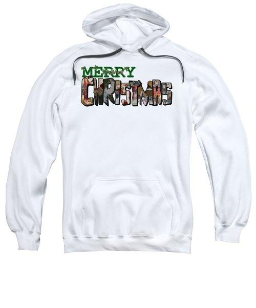 Big Letter Merry Christmas Sweatshirt