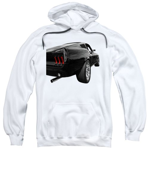 Black 1967 Mustang Rear Sweatshirt