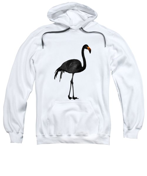 Black Flamingo 1 - Tropical Wall Decor - Flamingo Posters - Exotic Birds - Black, Modern, Minimal  Sweatshirt