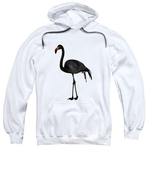 Black Flamingo 2 - Tropical Wall Decor - Flamingo Posters - Exotic Birds - Black, Modern, Minimal  Sweatshirt
