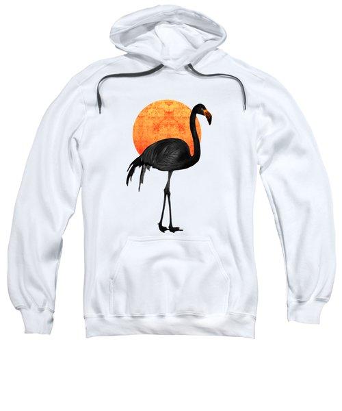Black Flamingo 3 - Tropical Wall Decor - Flamingo Posters - Exotic Birds - Black, Modern, Minimal  Sweatshirt