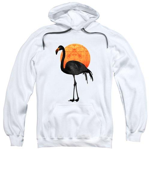 Black Flamingo 4 - Tropical Wall Decor - Flamingo Posters - Exotic Birds - Black, Modern, Minimal  Sweatshirt