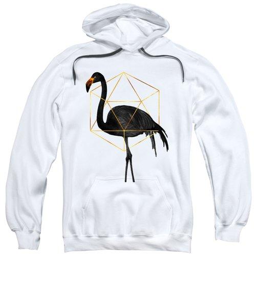 Black Flamingo 6 - Tropical Wall Decor - Flamingo Posters - Exotic, Black, Gold, Modern, Minimal  Sweatshirt