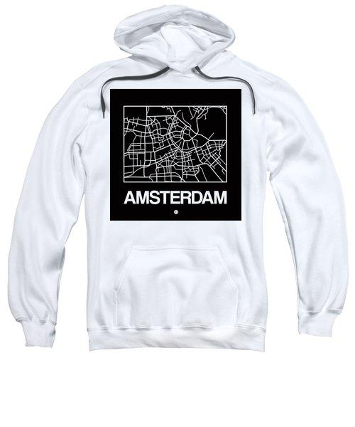 Black Map Of Amsterdam Sweatshirt