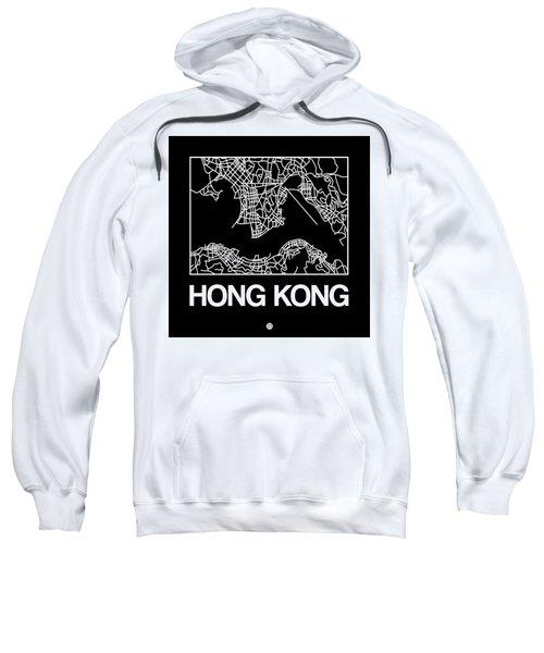 Black Map Of Hong Kong Sweatshirt