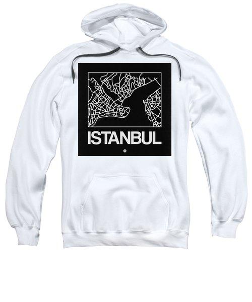 Black Map Of Istanbul Sweatshirt