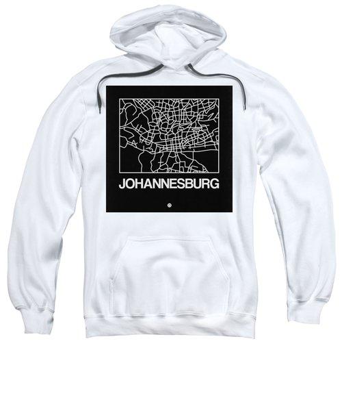 Black Map Of Johannesburg Sweatshirt