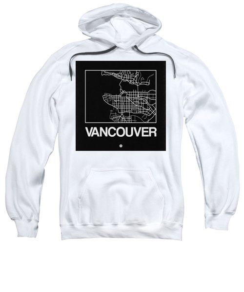 Black Map Of Vancouver Sweatshirt