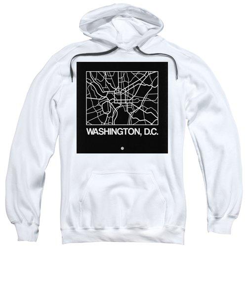 Black Map Of Washington, D.c. Sweatshirt