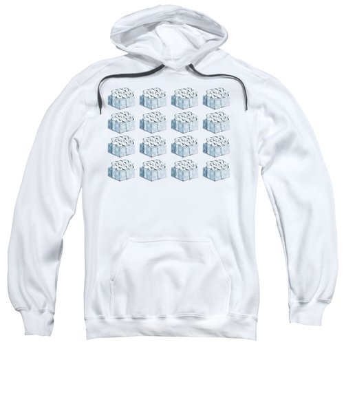 Blue Present Pattern Sweatshirt