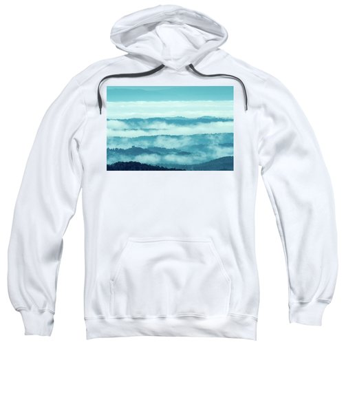 Blue Ridge Mountains Layers Upon Layers In Fog Sweatshirt