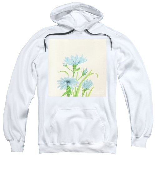 Blue Wildflowers Watercolor Sweatshirt