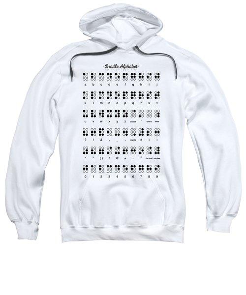 Braille Alphabet Sweatshirt