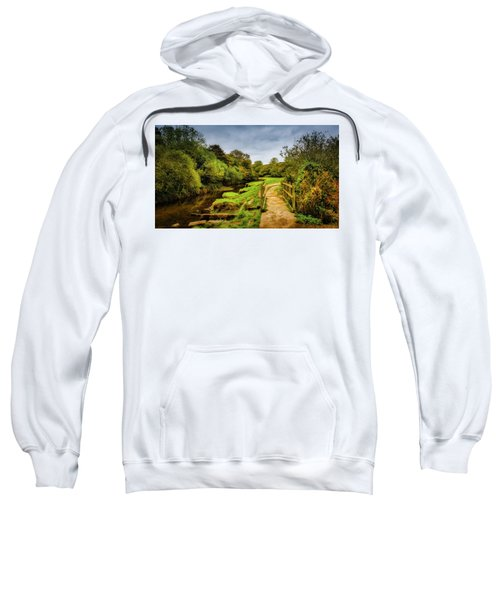 Bridge With Falling Colors Sweatshirt