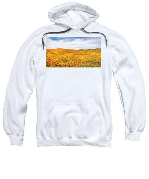 California Poppy Superbloom 2019 - Panorama #2 Sweatshirt