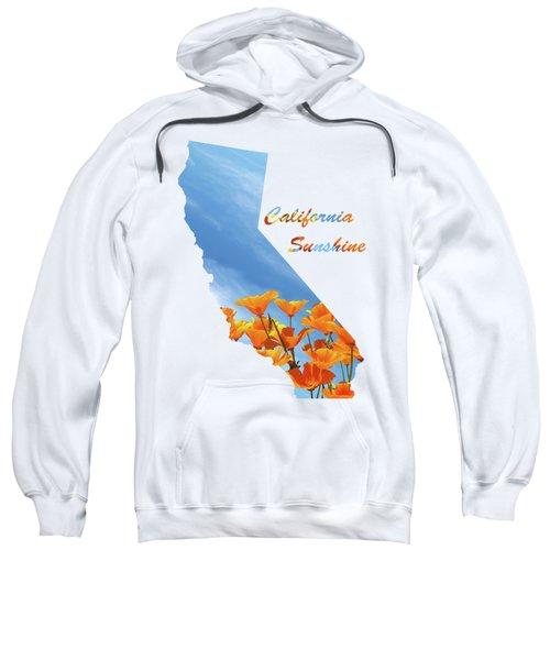 California Sunshine State Map Sweatshirt