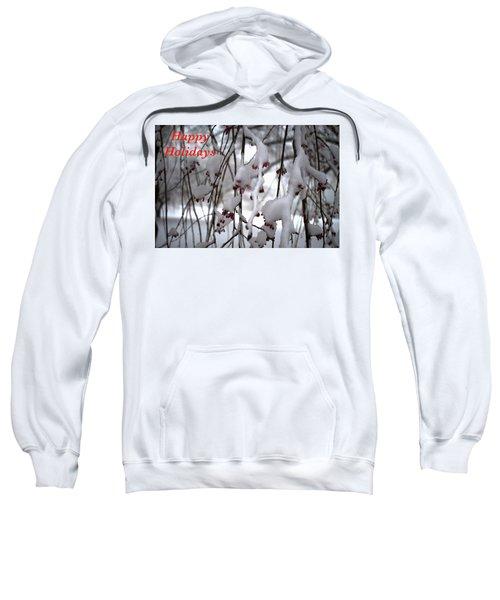 Cherry Blossoms In Snow Sweatshirt