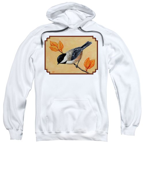 Chickadee And Autumn Leaves Sweatshirt