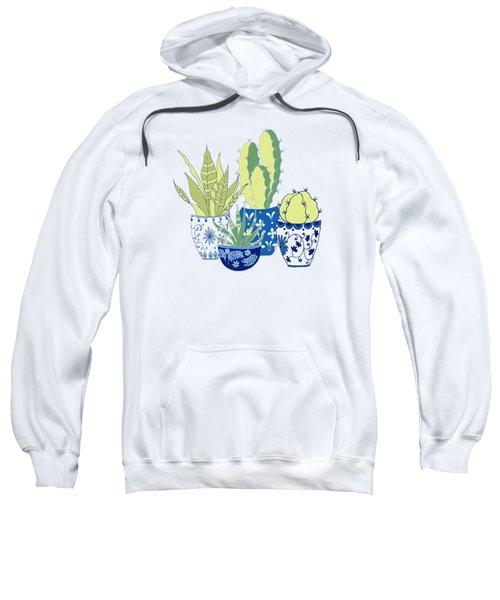 Chinoiserie Cactus Garden Sweatshirt