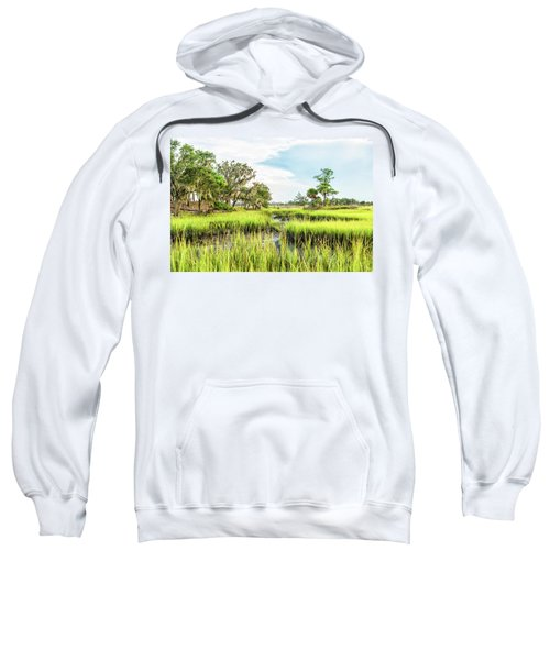 Chisolm Island - Marsh At Low Tide Sweatshirt