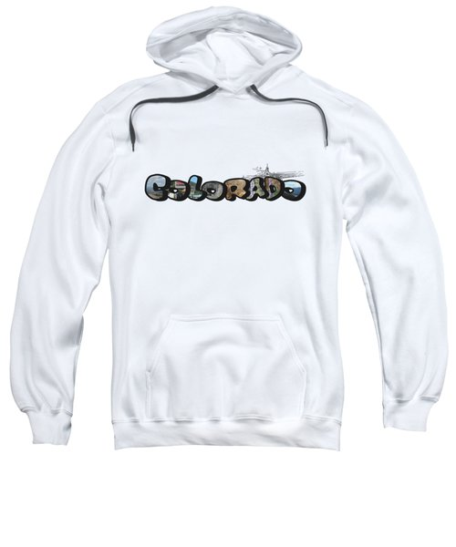 Colorado Big Letter Digital Art Sweatshirt