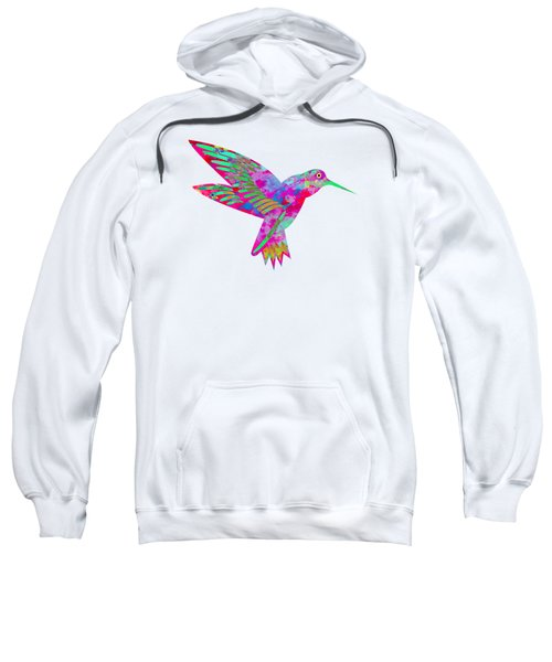 Colored Hummingbird  Sweatshirt