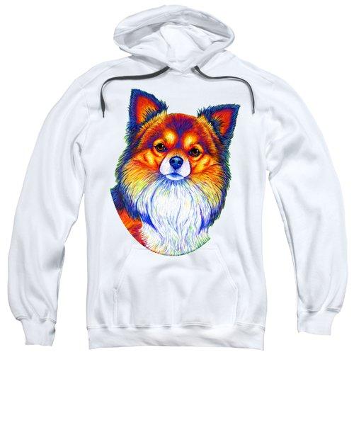 Colorful Long Haired Chihuahua Dog Sweatshirt