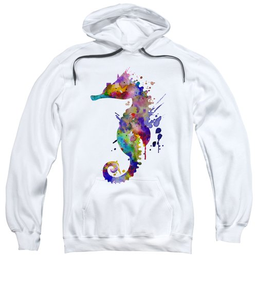 Colorful Seahorse Silhouette Sweatshirt