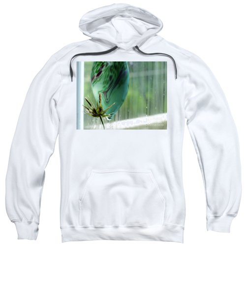 Composition In Green Sweatshirt