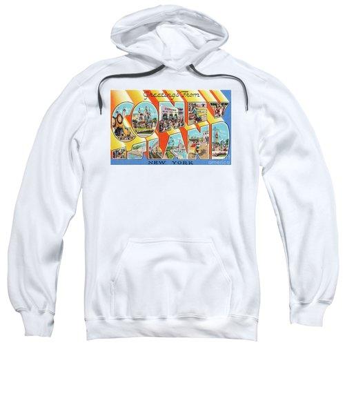 Coney Island Greetings - Version 1 Sweatshirt