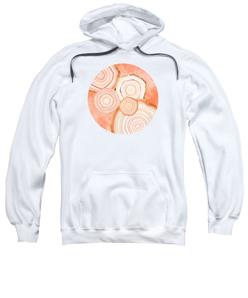 Coral Agate Abstract Sweatshirt