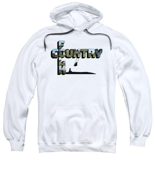 Country Folk Big Letter Graphic Art Sweatshirt